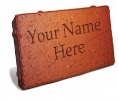 "Brick with ""your name here"""